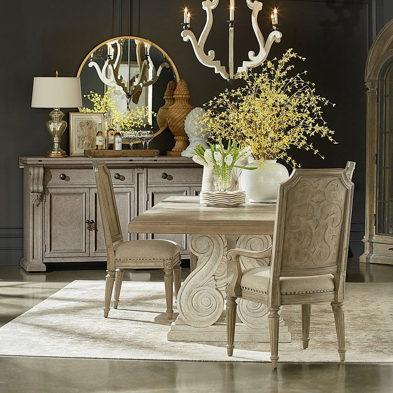 Arch Salvage Pearce Dining Room Set ParchCirrus ART Furniture Classy Art Dining Room Furniture