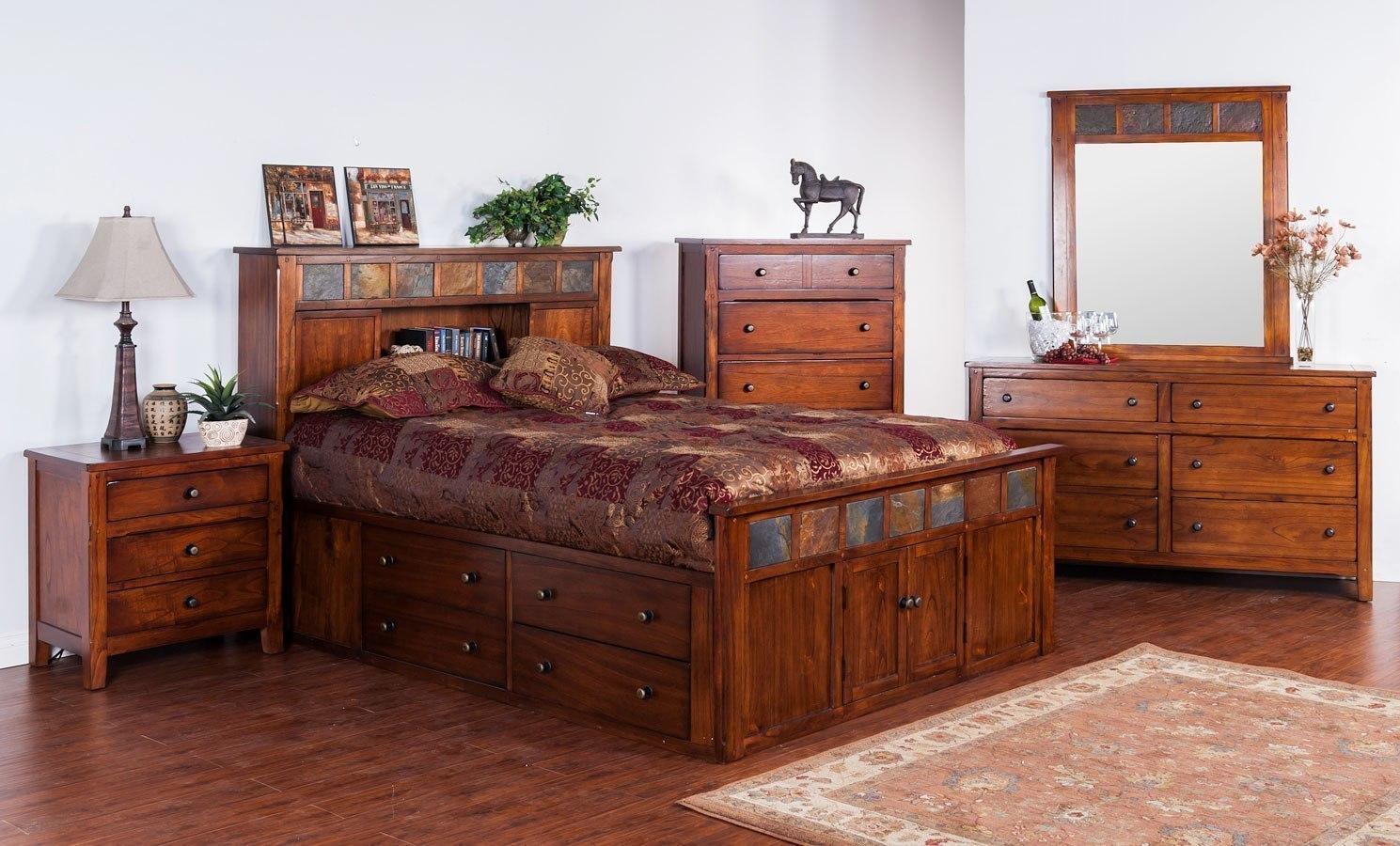 Santa Fe Petite Storage Bookcase Bedroom Set Sunny Designs Furniture Cart