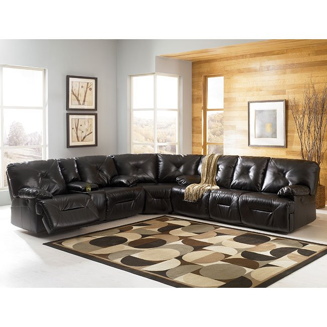 DuraBlend - Black Reclining Sectional