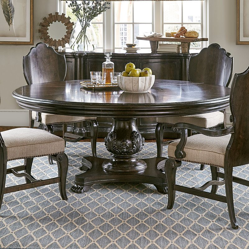 Genial Continental 72 Inch Round Dining Table (Melange)