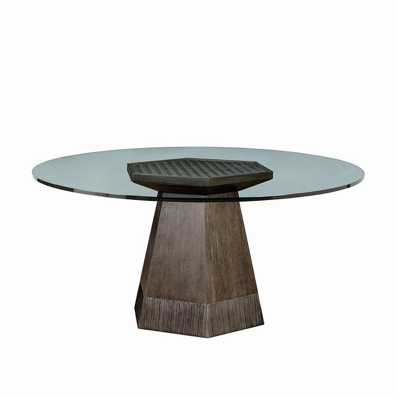 Geode Bluff 54 Inch Round Dining Table Art Furniture Furniture Cart