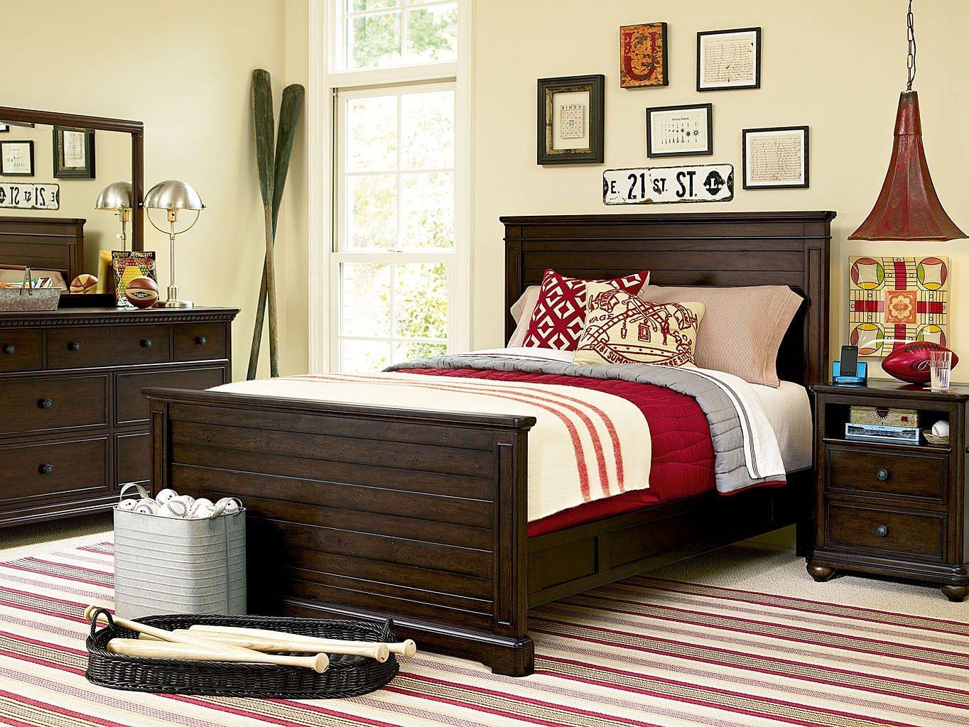 Image of: Paula Deen Guys Panel Bedroom Set Smartstuff Furniture Furniture Cart
