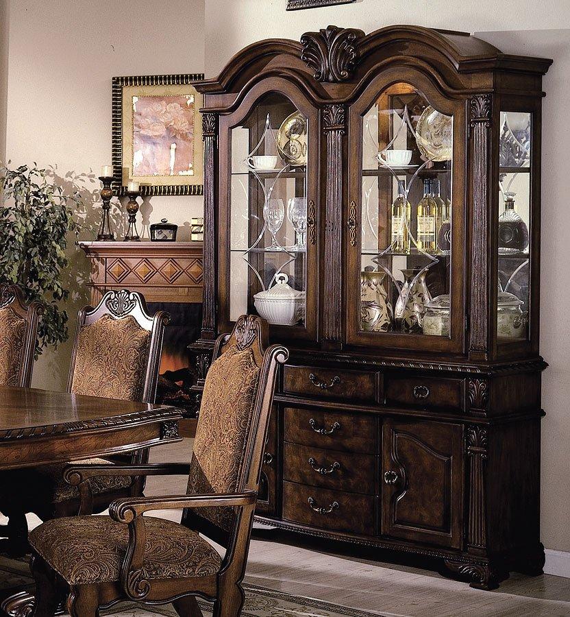 Crown Mark Neo Renaissance Double Pedestal Dining Table: Neo Renaissance Dining Room Set Crown Mark Furniture, 1