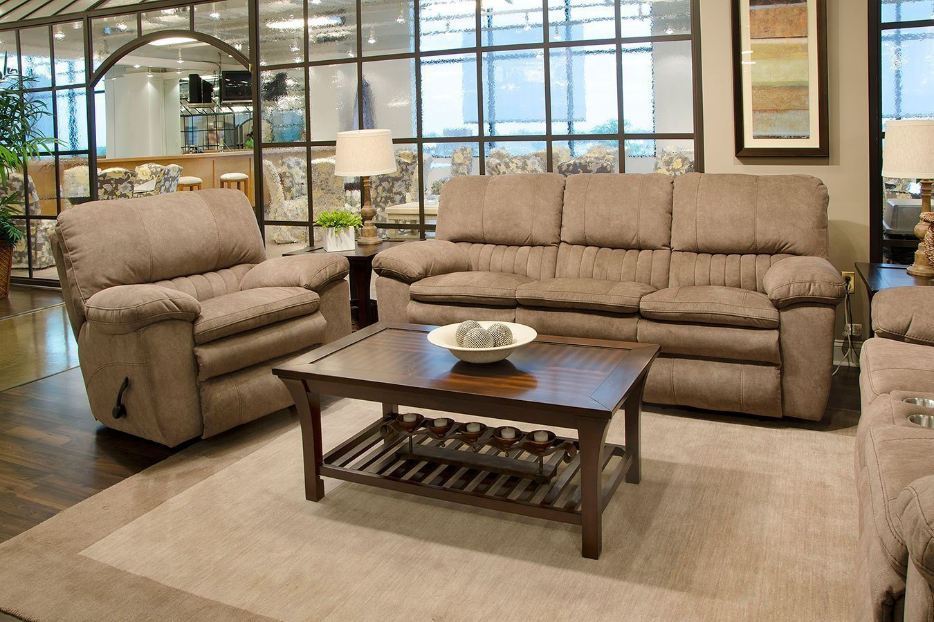 Reyes Power Lay Flat Reclining Living Room Set Portabella