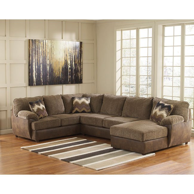 Cladio Hickory Right Chaise Sectional