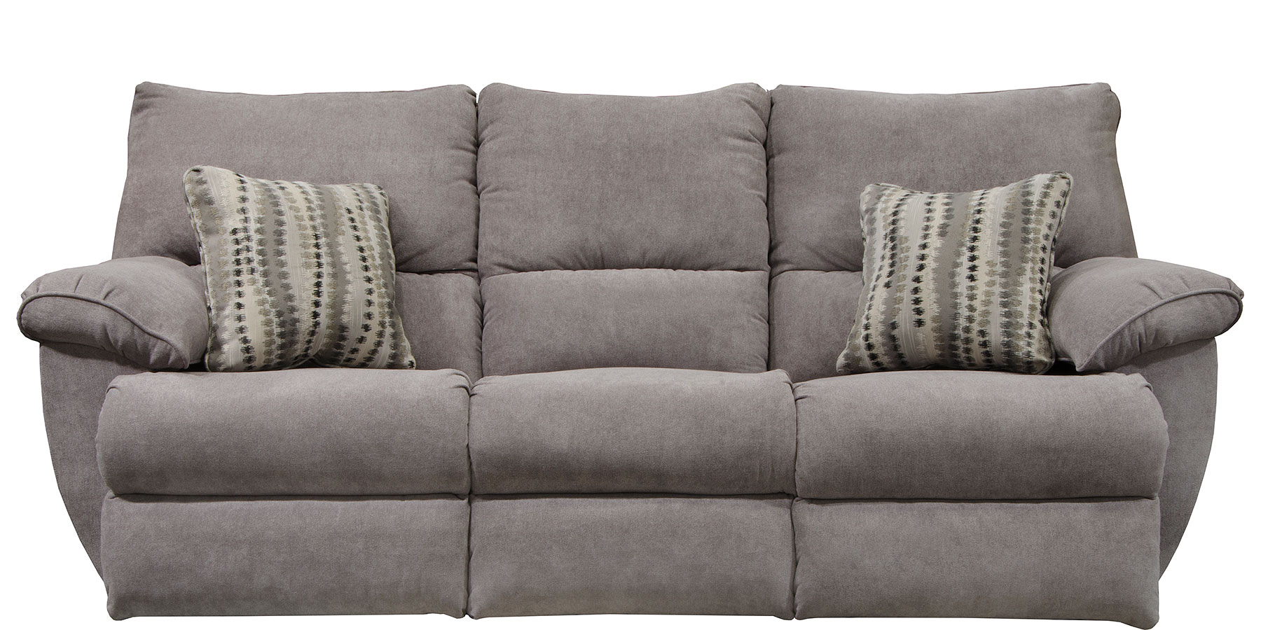Sadler Lay Flat Reclining Sofa W Drop Down Table Mica