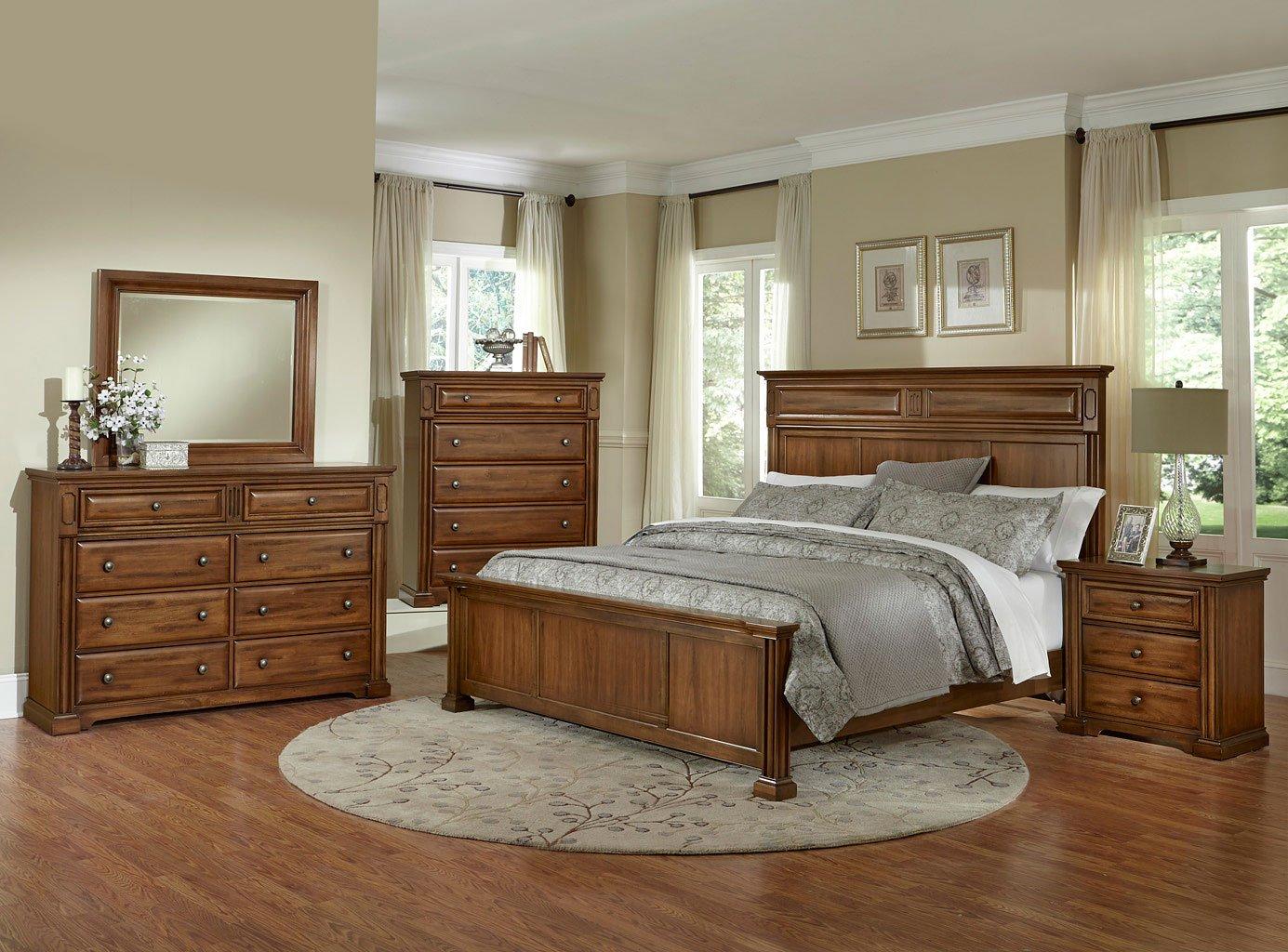Knightsbridge Mansion Bedroom Set Medium Cherry Vaughan