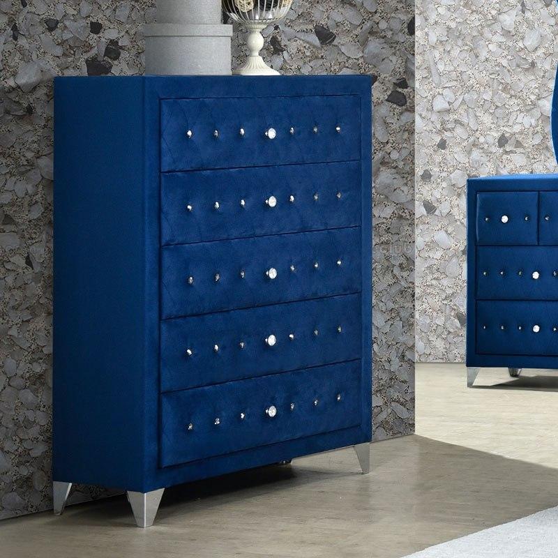 Dante Chest Blue Acme Furniture Furniture Cart