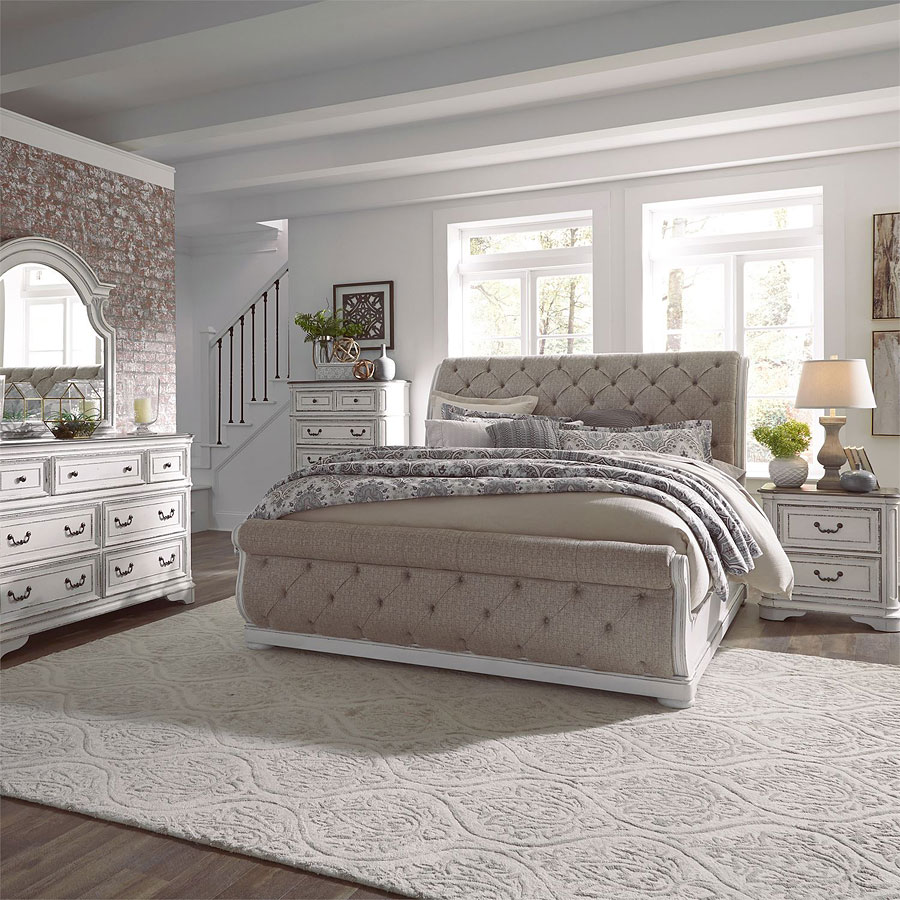 Sleigh Bedroom Set >> Magnolia Manor Upholstered Sleigh Bedroom Set Liberty Furniture, 1 Reviews   Furniture Cart