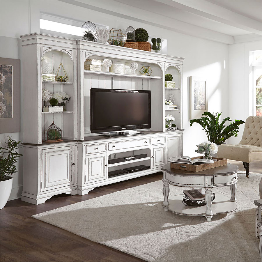 Magnolia Manor Entertainment Center With Piers Liberty Furniture 1