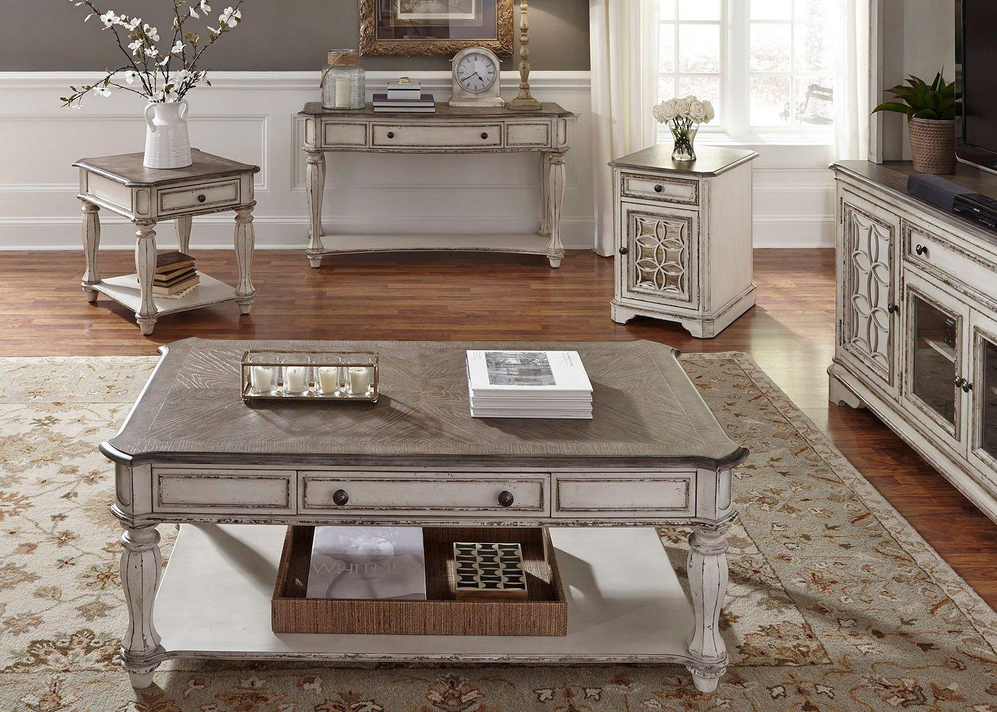 Magnolia Manor Rectangular Occasional Table Set