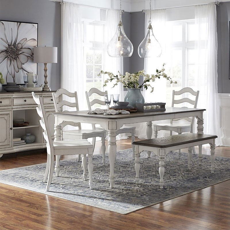 Magnolia Manor Rectangular Dining Set W Bench Liberty