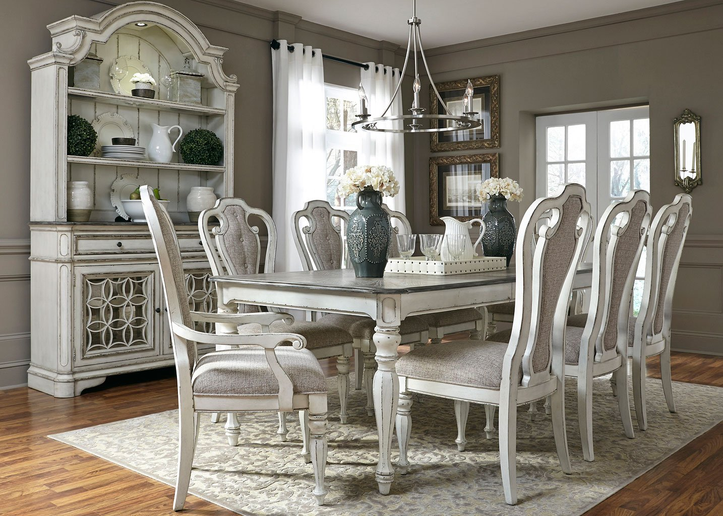 Magnolia Manor Dining Room Set w/ 108 Inch Table