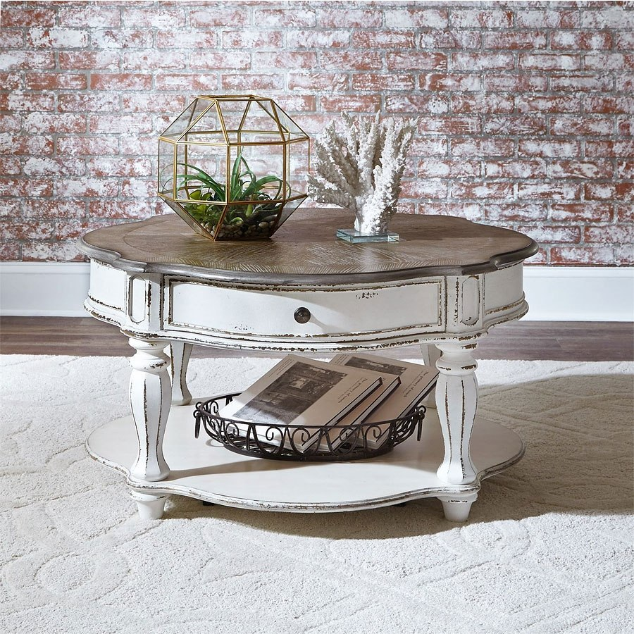 Magnolia Manor Round Cocktail Table Liberty Furniture 1