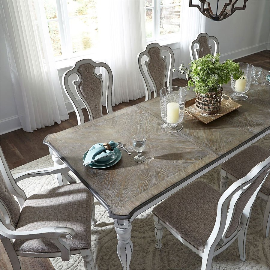 Magnolia Manor Dining Room Set W/ 108 Inch Table Liberty