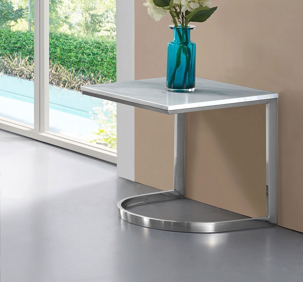 Copley End Table (Chrome) Meridian Furniture