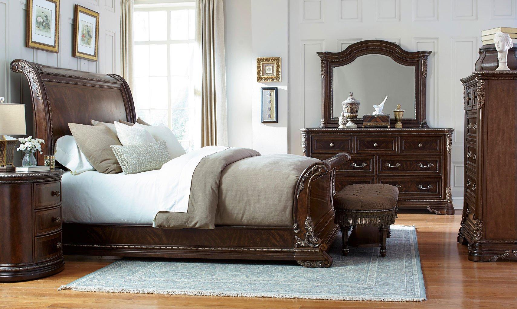 gables sleigh bedroom set art furniture furniture cart