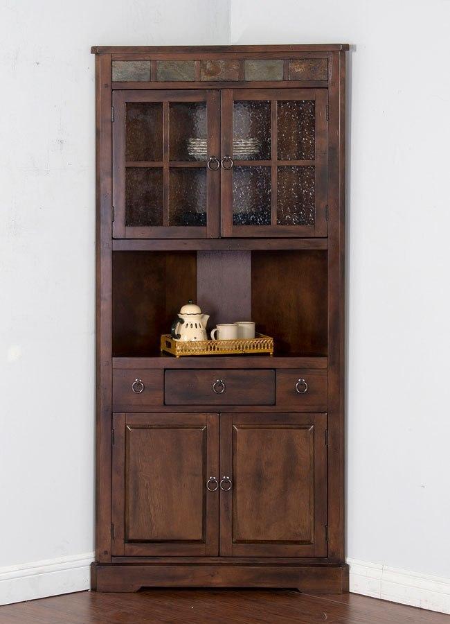 Corner Cabinet Furniture Dining Room: Santa Fe Corner China Cabinet Sunny Designs