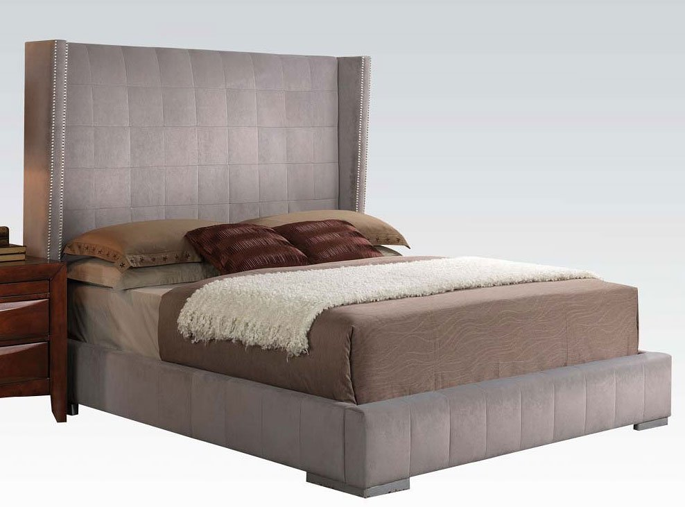 Melissa Upholstered Bed Acme Furniture Furniture Cart