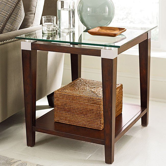 Solitaire Rectangular End Table Hammary Furniture Cart