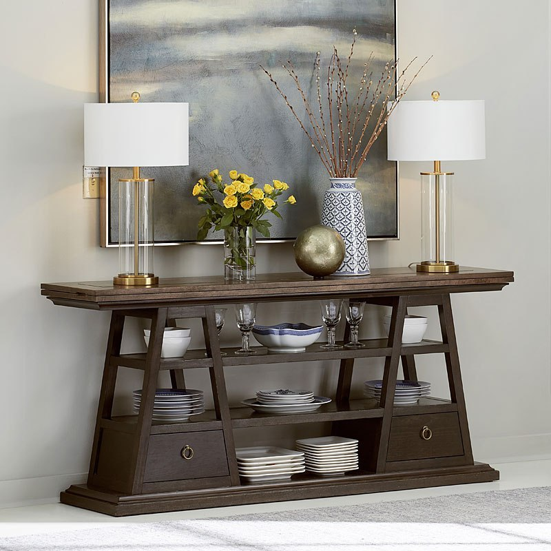 American Chapter Live Edge Flip Top Console Table