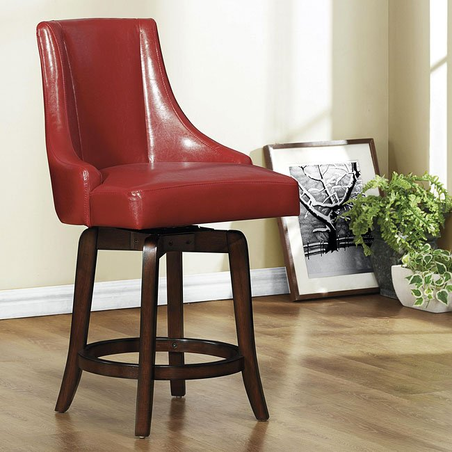 Annabelle Counter Height Chair (Red)
