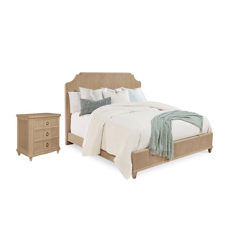 . Roseline Georgia Panel Bedroom Set  Natural Oak