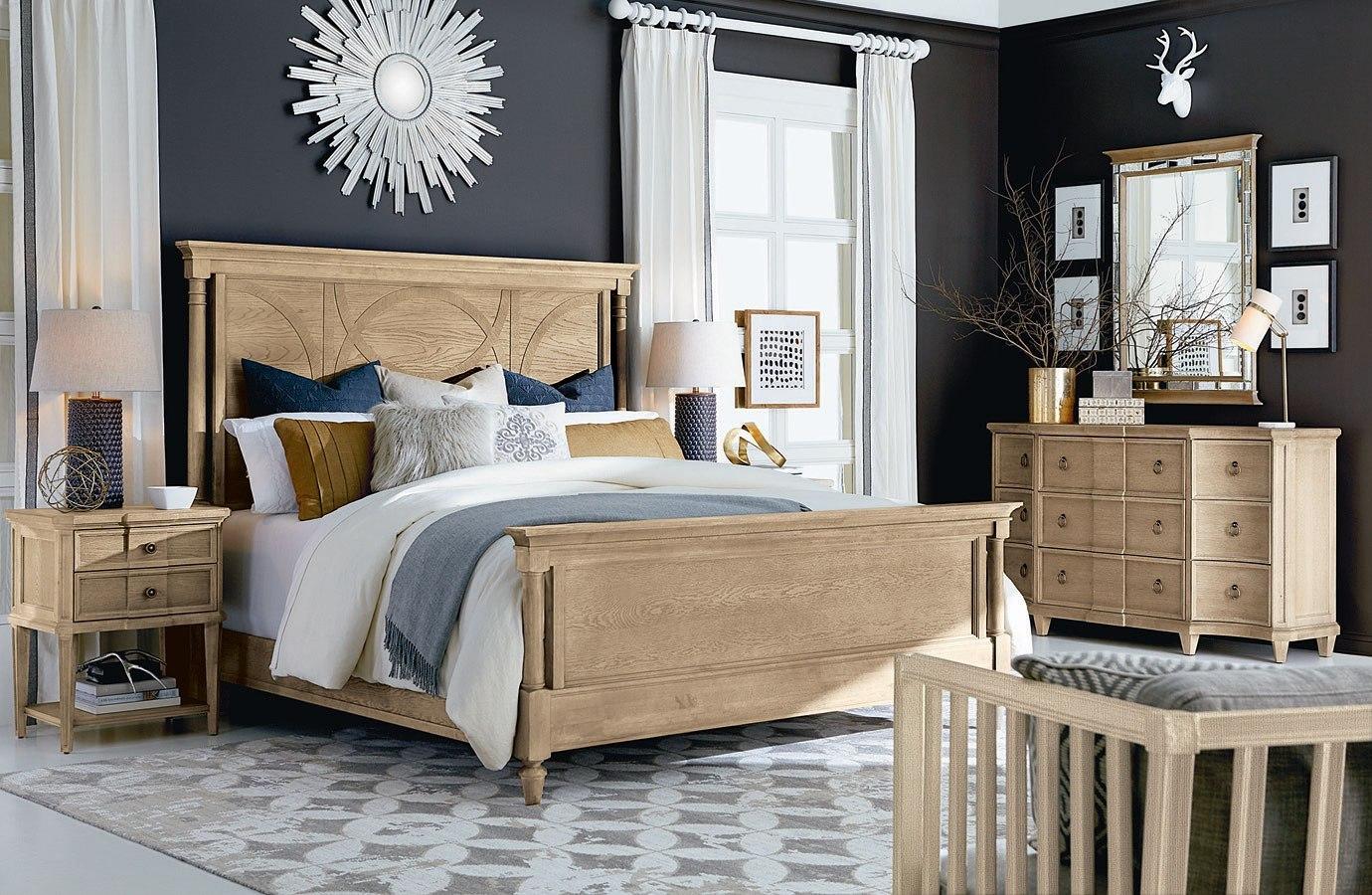 . Roseline Isla Panel Bedroom Set  Natural Oak