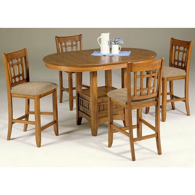 Santa Rosa Counter Dining Room Set (Mission Oak) Liberty