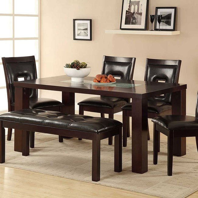 Lee Dining Table W Le Gl Insert