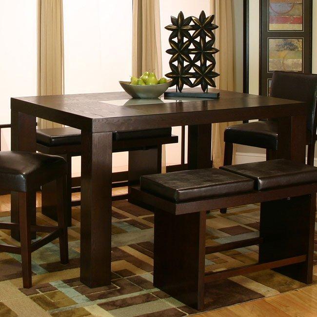 Kemper Rectangular Counter Height Table