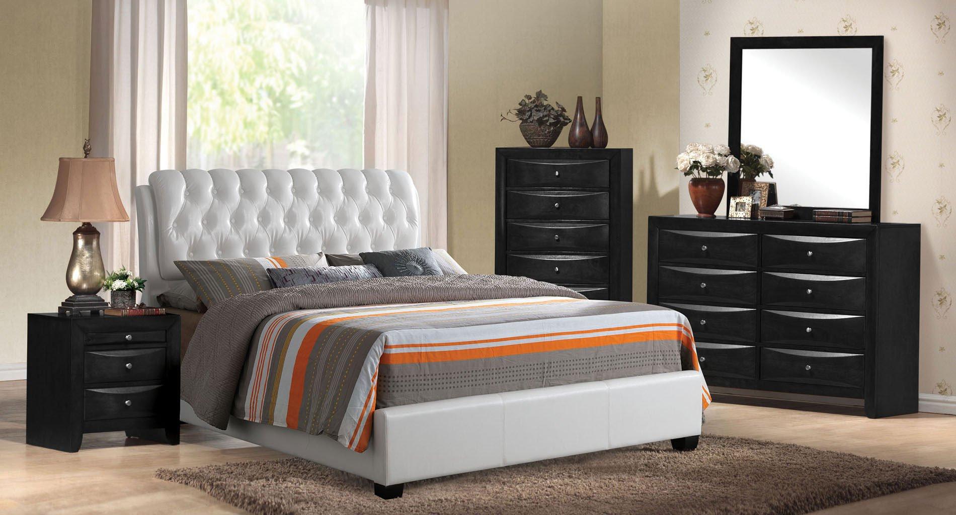 Ireland ii upholstered sleigh bedroom set acme furniture furniture cart for Upholstered sleigh bedroom set