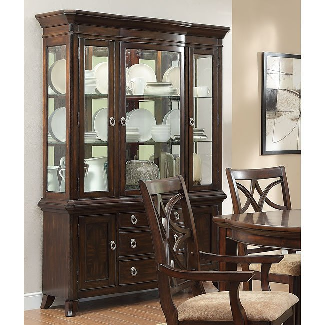 Keegan Buffet W/ Hutch Homelegance, 2 Reviews