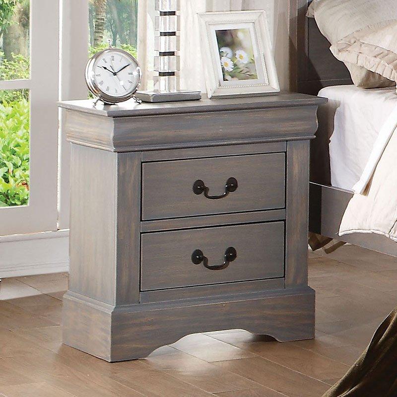 Louis Philippe Iii Sleigh Bedroom Set Gray Acme