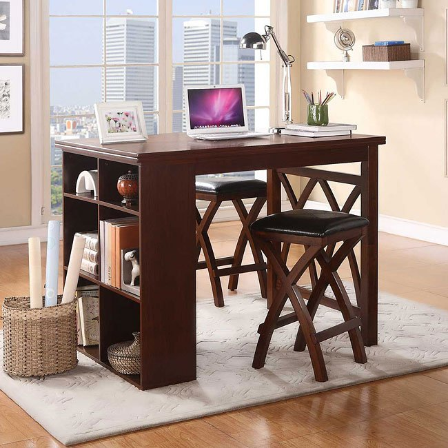 Mably 3-Piece Counter Height Dinette Homelegance