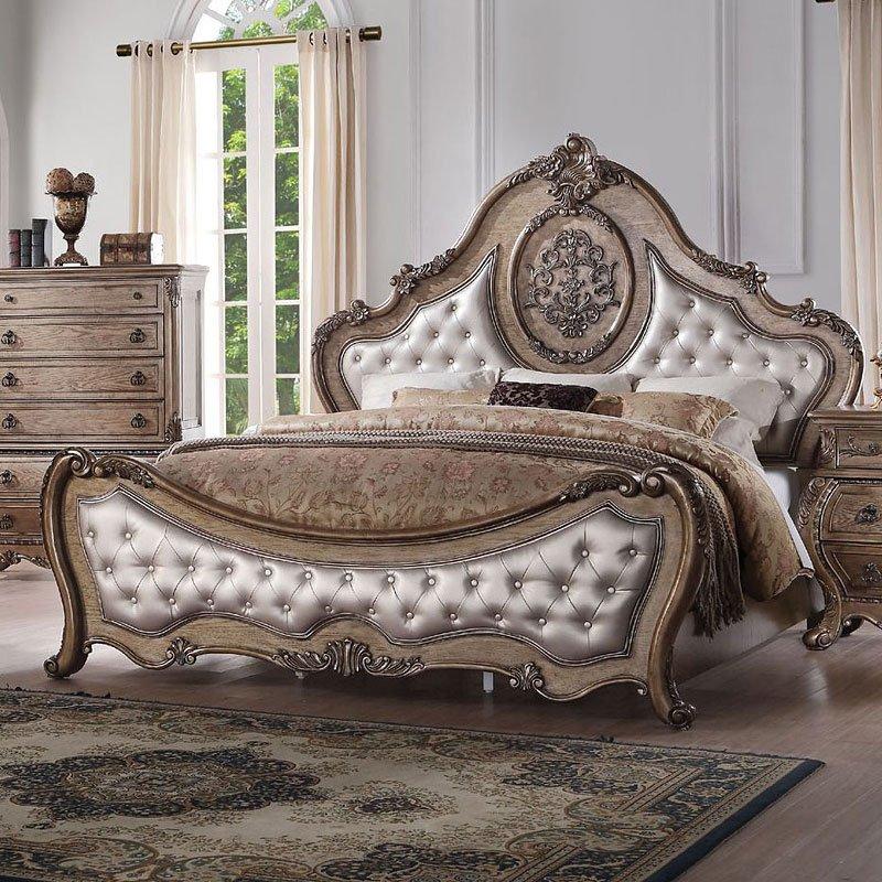 Ragenardus Panel Bed (Vintage Oak) (Queen) By Acme Furniture