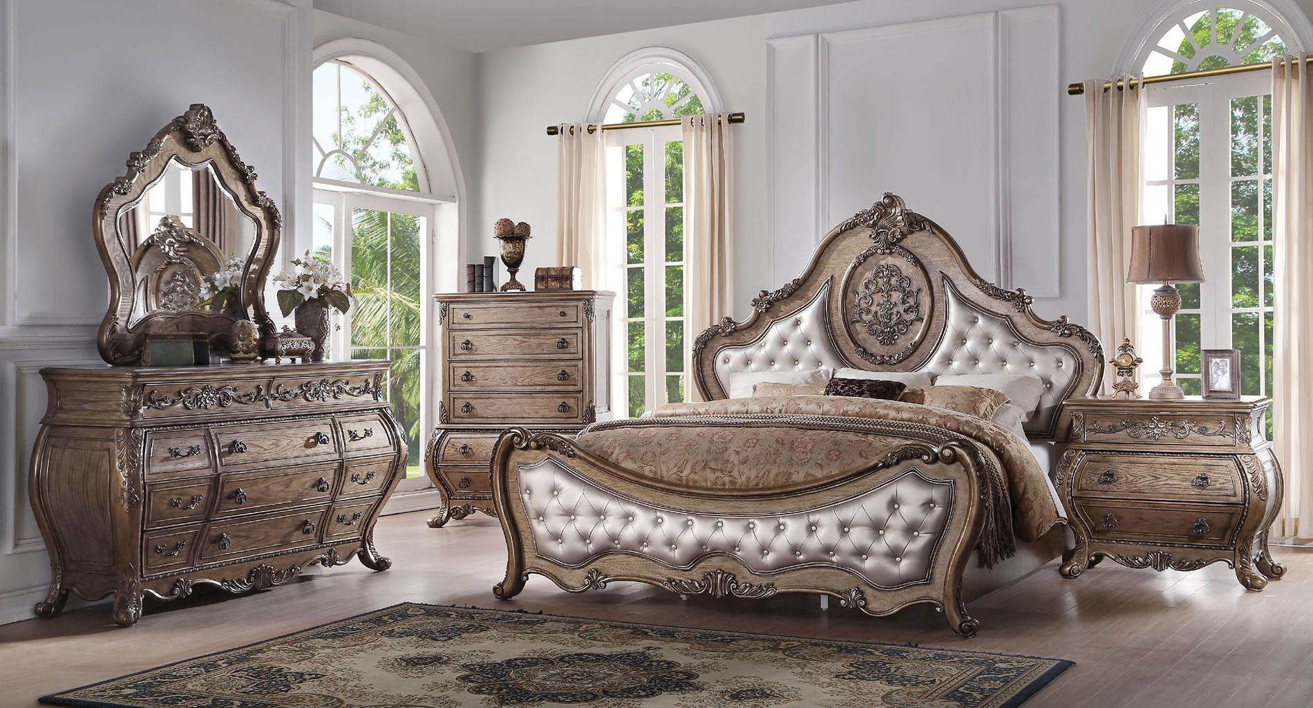 Ragenardus Panel Bedroom Set (Vintage Oak)