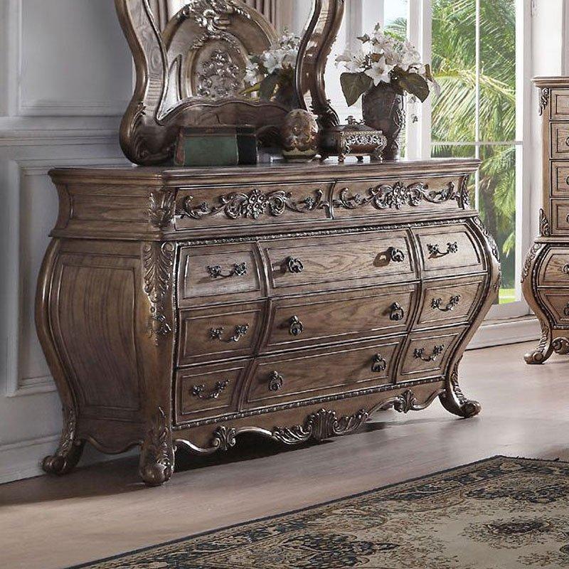 Ragenardus Panel Bedroom Set (Vintage Oak) Acme Furniture