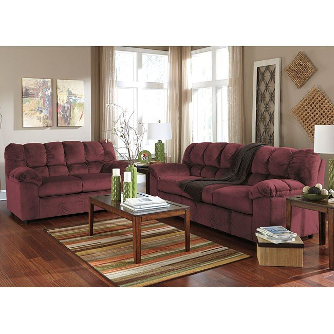 rustic julson burgundy living room set | Julson Burgundy Living Room Set Signature Design, 1 ...