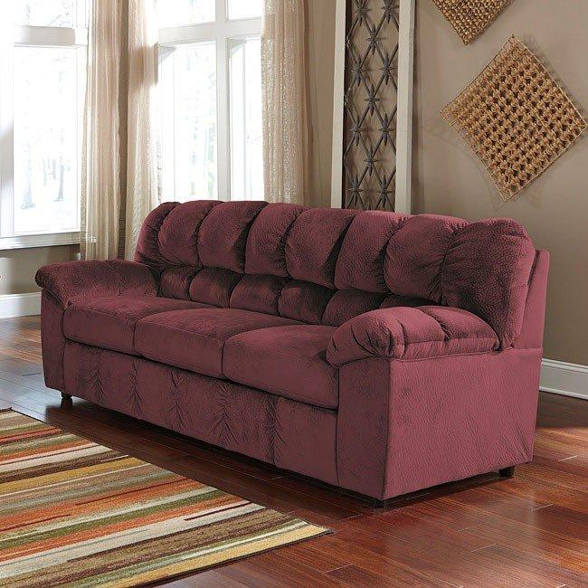 Julson Burgundy Sofa