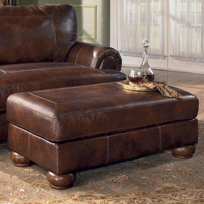 Rutherford - Brindle Ottoman