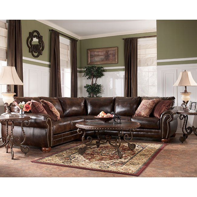 Etonnant Lisbon DuraBlend   Antique Sectional