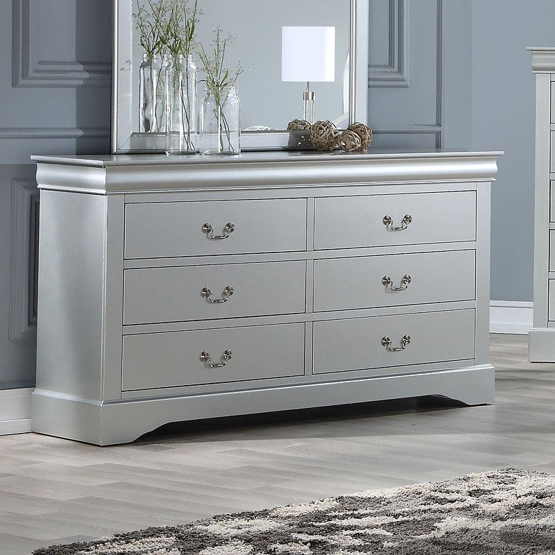 Louis Philippe Iii Dresser Platinum Acme Furniture