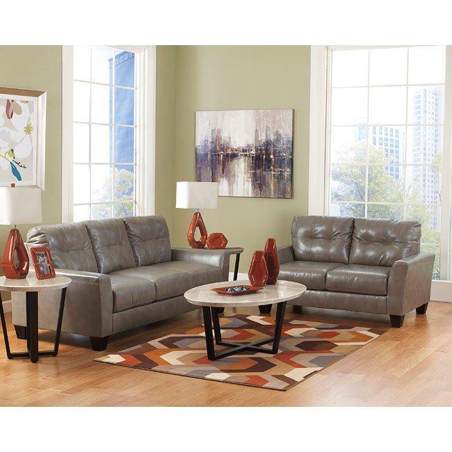 Paulie DuraBlend Quarry Living Room Set