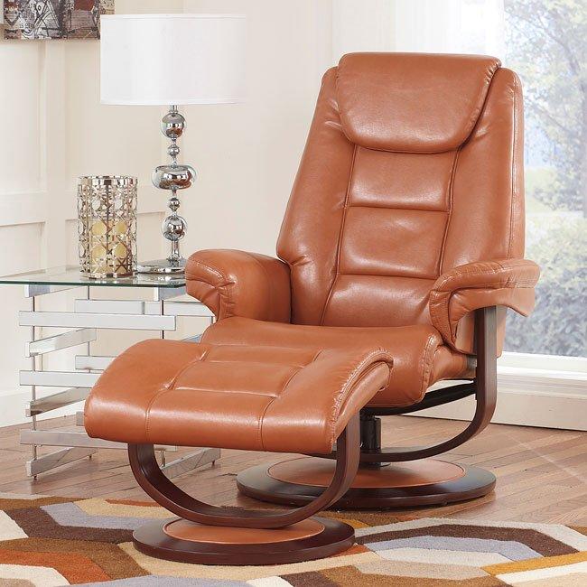 Paulie DuraBlend Orange Comfort Lounger