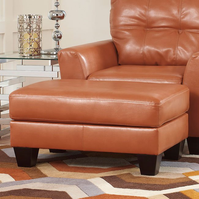 Paulie DuraBlend Orange Ottoman