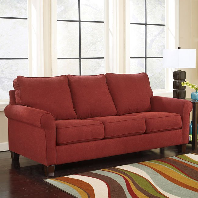Zeth Crimson Queen Sofa Sleeper