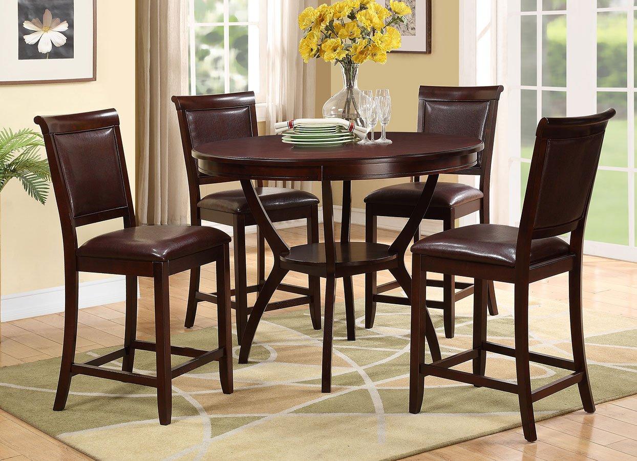 Brook 5-Piece Counter Height Dining Set Crown Mark Furniture