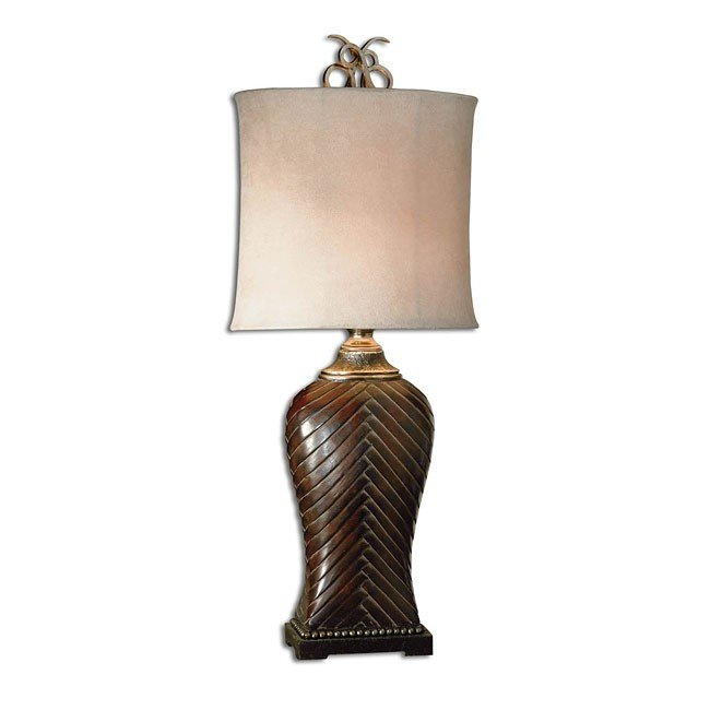 Leather Weave Table Lamp