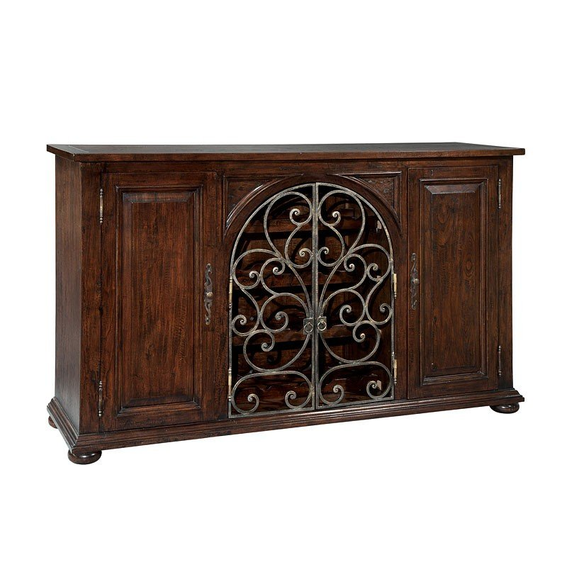 Rustic Iron Wire Sideboard Hekman Furniture Cart